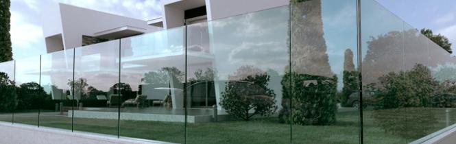 Exterior glass patio doors - Glass Railings Sleek Viewall Sliding Doors Sliding Folding Doors